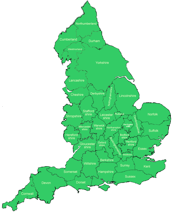 Map Of Uk Ireland Counties.Ancient Counties Of England